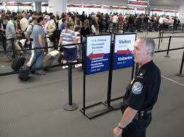 CBP travelers in line
