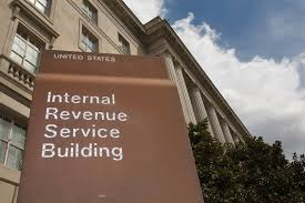 IRS building and sign